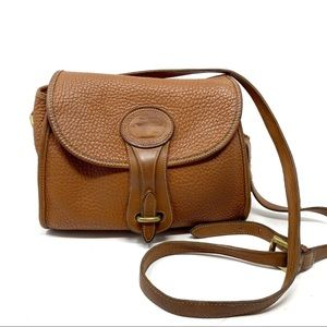Vintage Dooney & Bourke Tan Leather Cross Body Bag